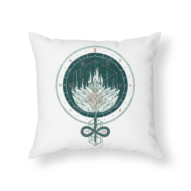 White Dahlia Home Throw Pillow by againstbound's Artist Shop