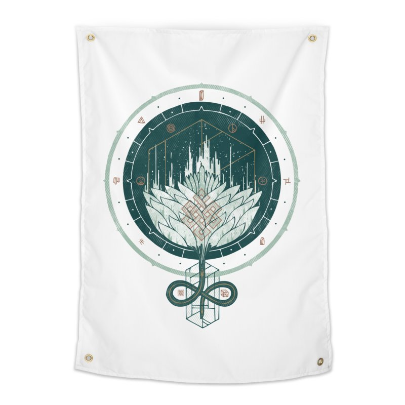 White Dahlia Home Tapestry by againstbound's Artist Shop