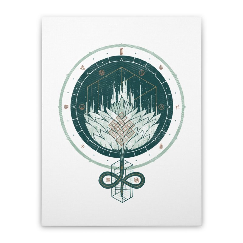 White Dahlia Home Stretched Canvas by againstbound's Artist Shop