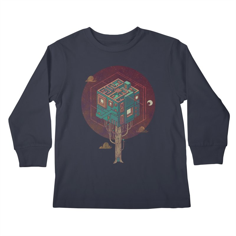 The Future is Green Kids Longsleeve T-Shirt by againstbound's Artist Shop