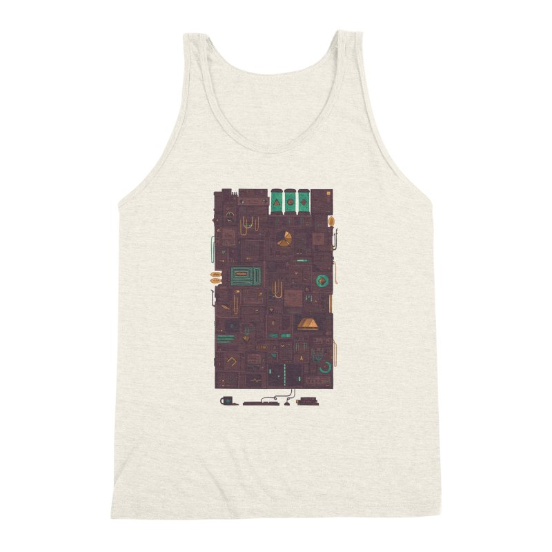 AFK Men's Triblend Tank by againstbound's Artist Shop