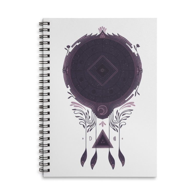 Cosmic Dreaming Accessories Lined Spiral Notebook by againstbound's Artist Shop