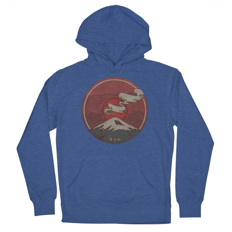 Fuji Men's French Terry Pullover Hoody by againstbound's Artist Shop