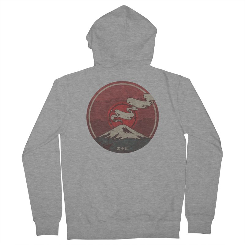 Fuji Women's French Terry Zip-Up Hoody by againstbound's Artist Shop