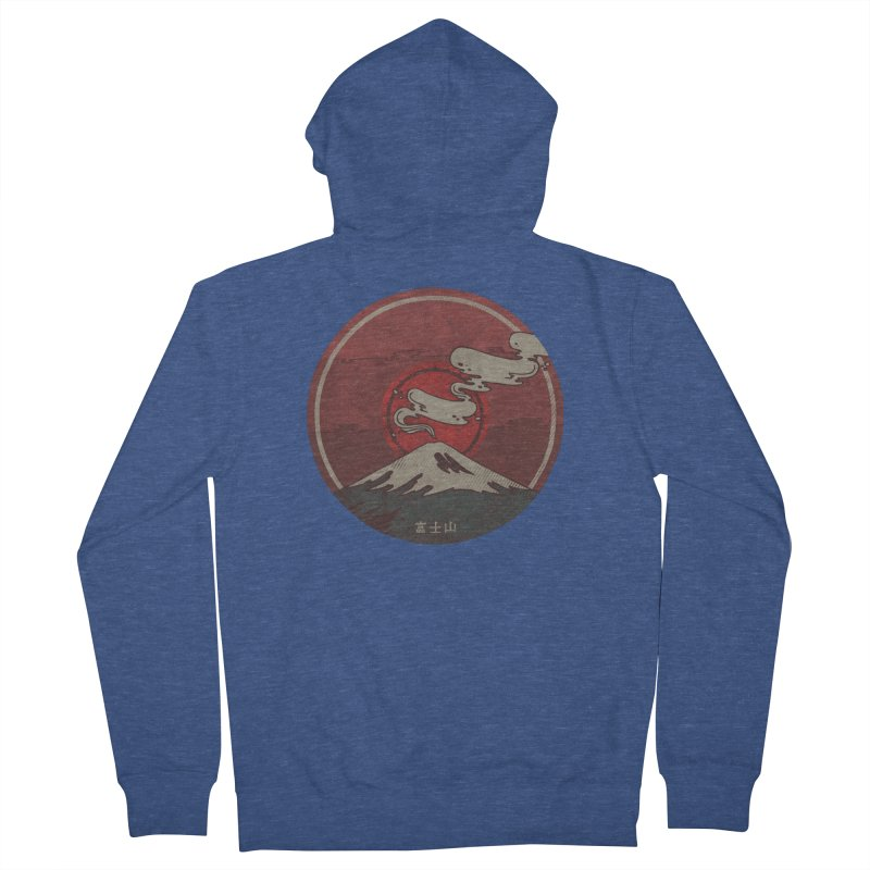 Fuji Men's French Terry Zip-Up Hoody by againstbound's Artist Shop