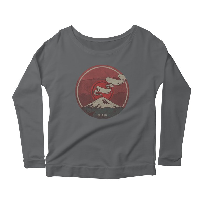 Fuji Women's Scoop Neck Longsleeve T-Shirt by againstbound's Artist Shop