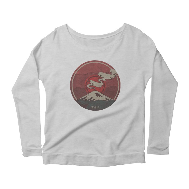 Fuji Women's Longsleeve Scoopneck  by againstbound's Artist Shop