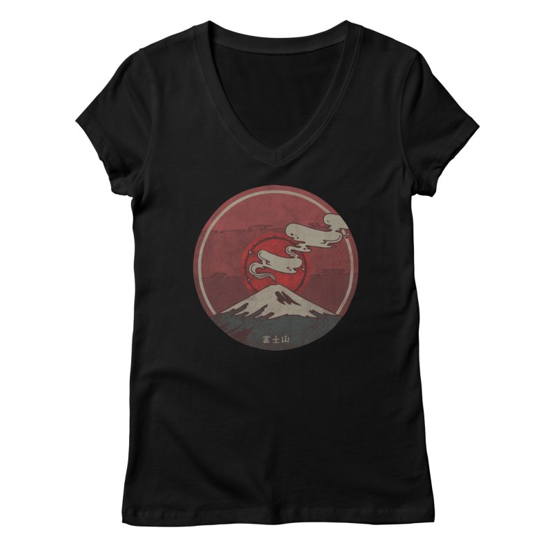 Fuji Women's V-Neck by againstbound's Artist Shop