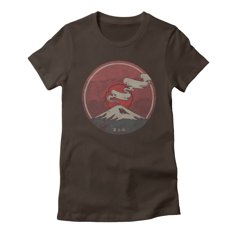 Fuji Women's Fitted T-Shirt by againstbound's Artist Shop