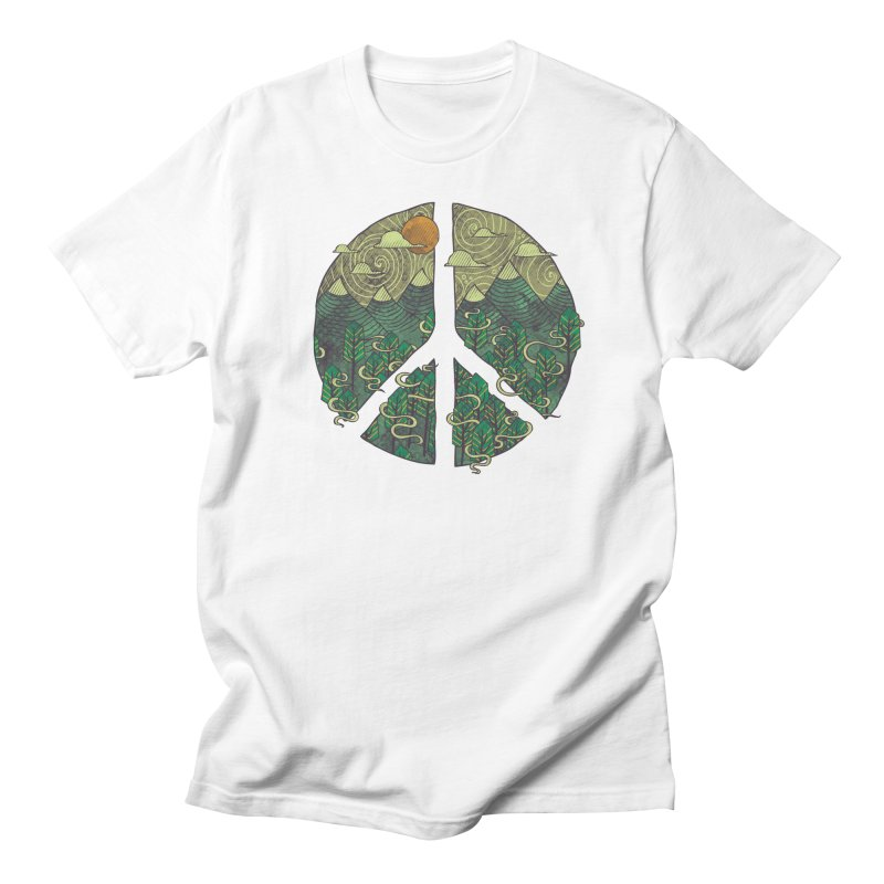 Peaceful Landscape Men's T-Shirt by againstbound's Artist Shop