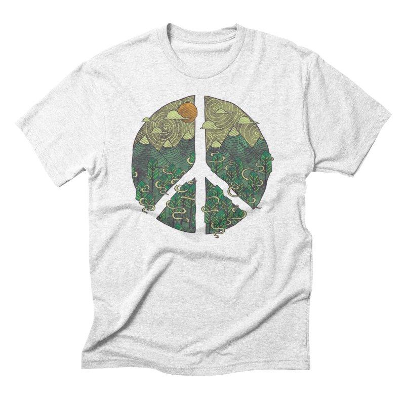 Peaceful Landscape Men's Triblend T-shirt by againstbound's Artist Shop