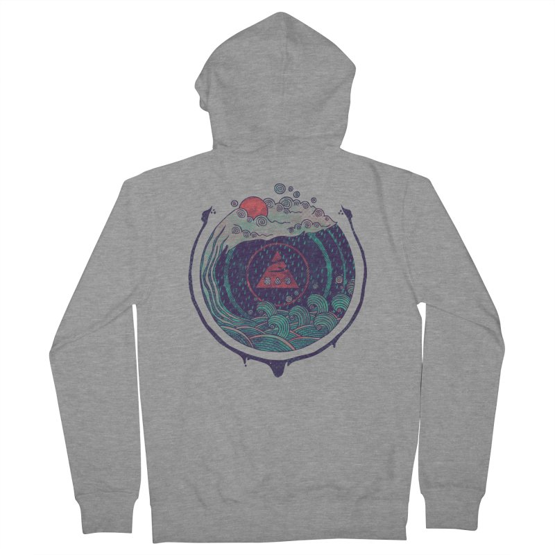 Water Women's French Terry Zip-Up Hoody by againstbound's Artist Shop