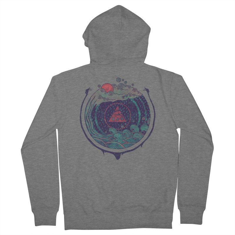 Water Men's French Terry Zip-Up Hoody by againstbound's Artist Shop