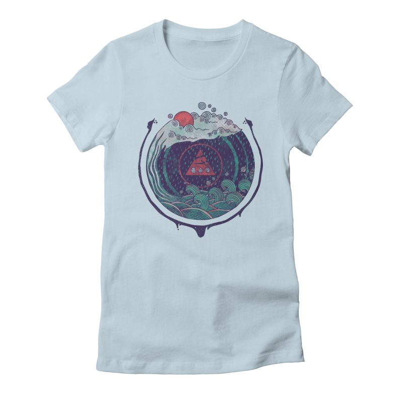 Water Women's Fitted T-Shirt by againstbound's Artist Shop