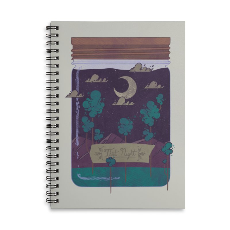 Memento Accessories Lined Spiral Notebook by againstbound's Artist Shop