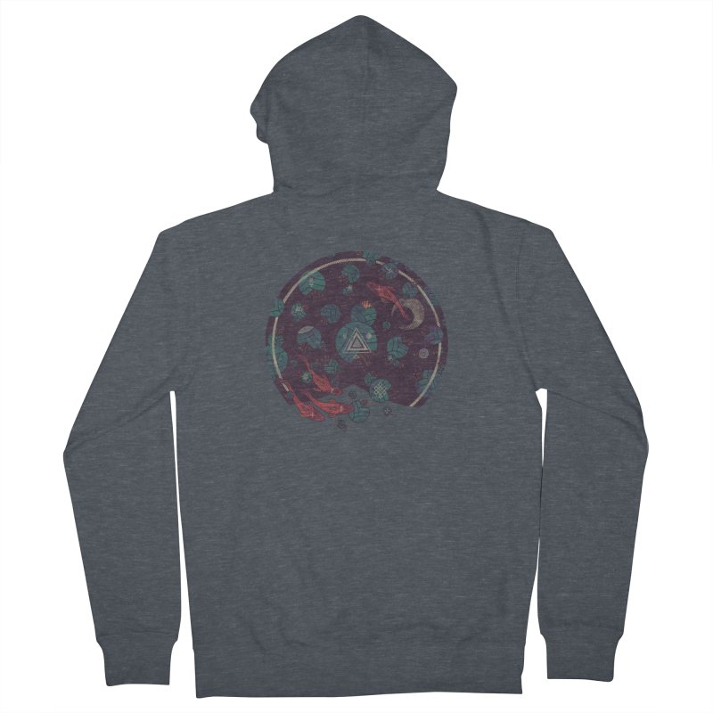 Amongst the Lilypads Men's French Terry Zip-Up Hoody by againstbound's Artist Shop