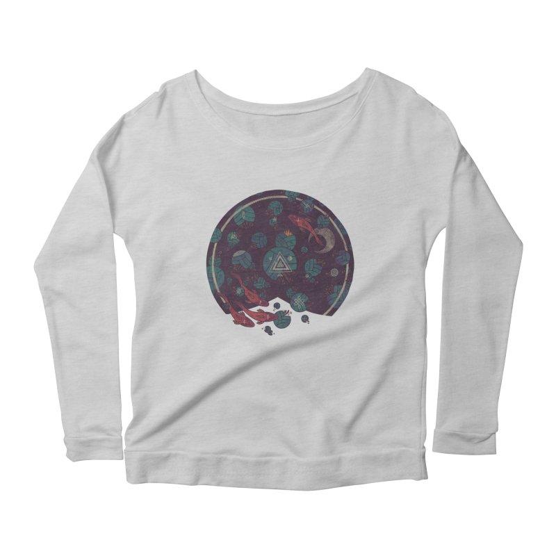 Amongst the Lilypads Women's Scoop Neck Longsleeve T-Shirt by againstbound's Artist Shop