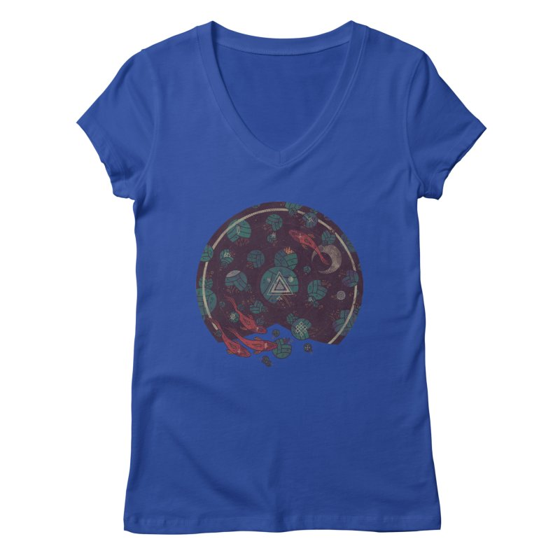 Amongst the Lilypads Women's Regular V-Neck by againstbound's Artist Shop