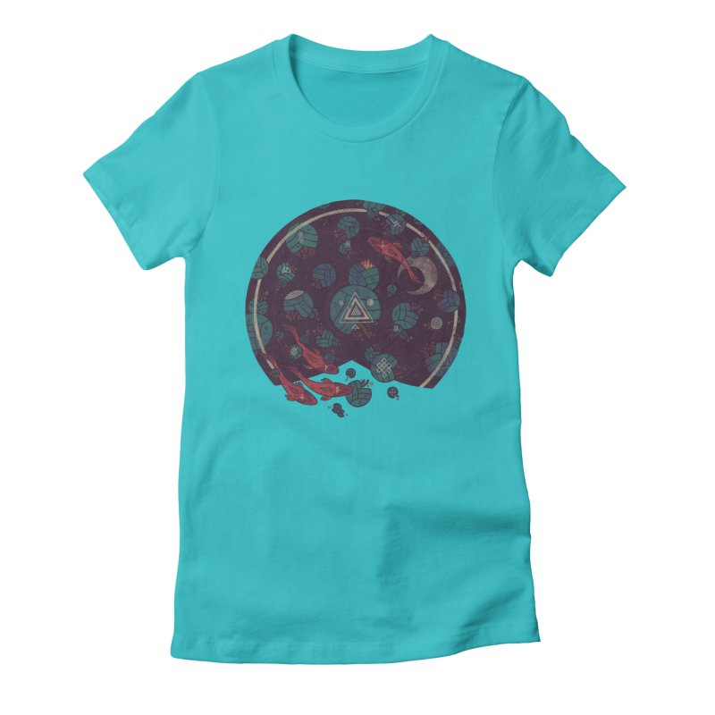 Amongst the Lilypads Women's Fitted T-Shirt by againstbound's Artist Shop