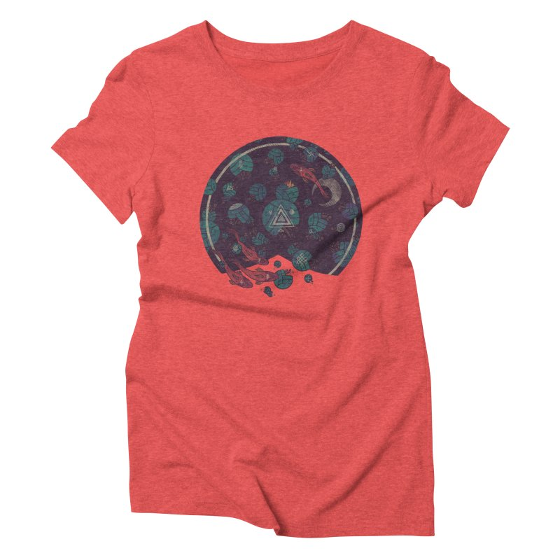 Amongst the Lilypads Women's Triblend T-Shirt by againstbound's Artist Shop
