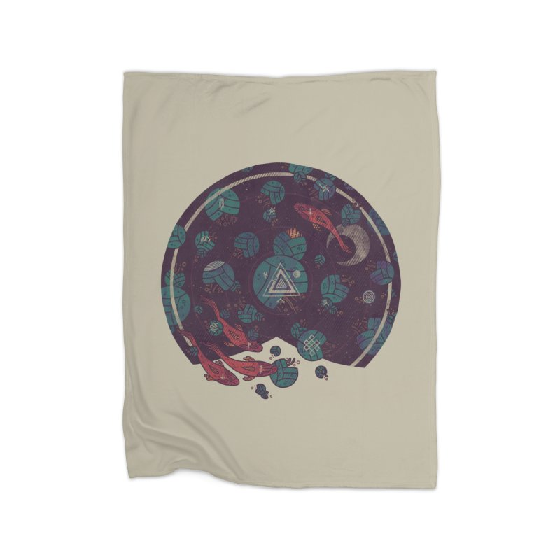 Amongst the Lilypads Home Fleece Blanket by againstbound's Artist Shop