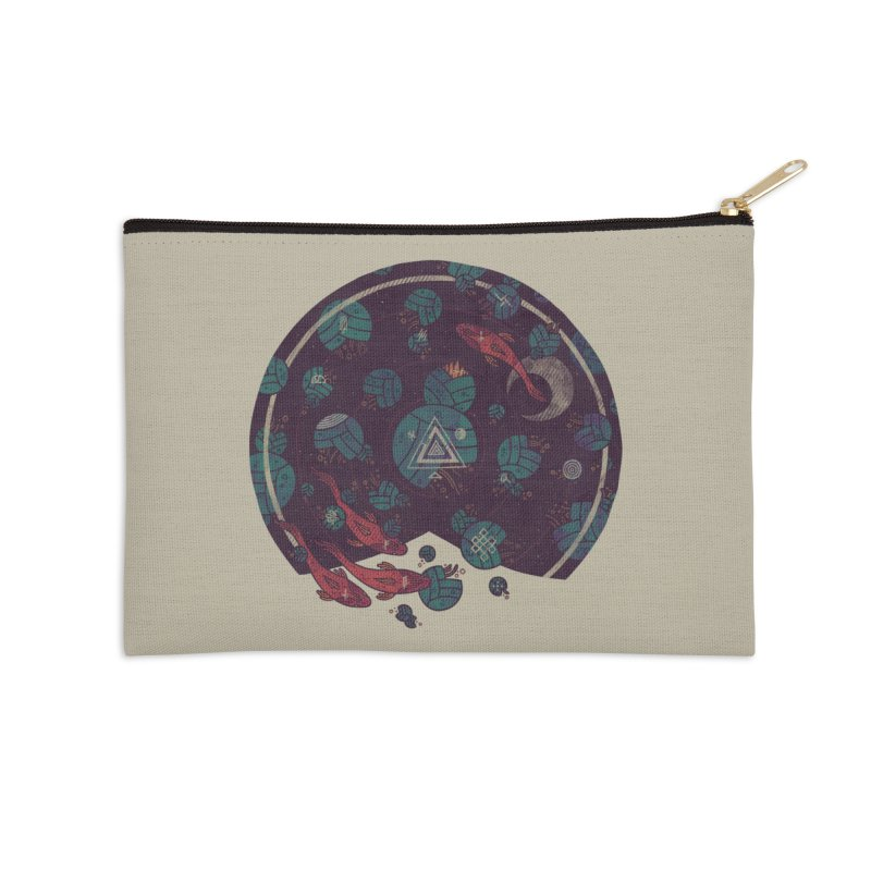 Amongst the Lilypads Accessories Zip Pouch by againstbound's Artist Shop
