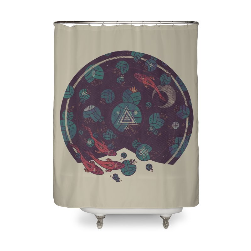 Amongst the Lilypads Home Shower Curtain by againstbound's Artist Shop