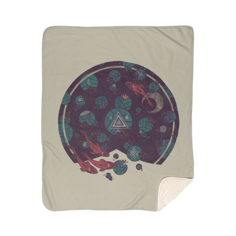 Amongst the Lilypads Home Sherpa Blanket Blanket by againstbound's Artist Shop