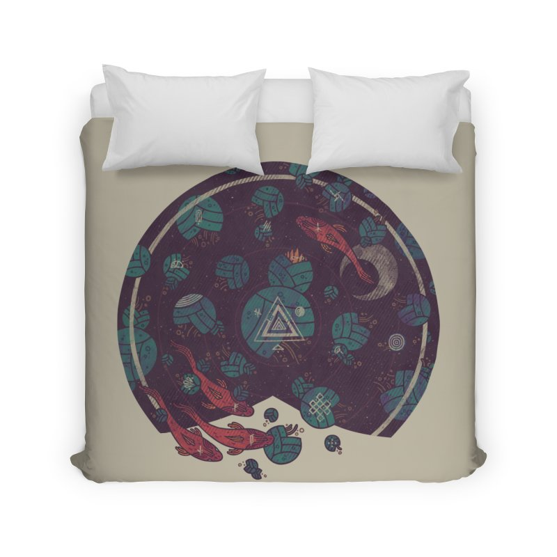 Amongst the Lilypads Home Duvet by againstbound's Artist Shop