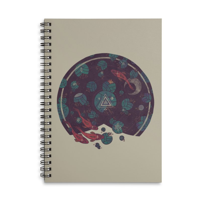 Amongst the Lilypads Accessories Lined Spiral Notebook by againstbound's Artist Shop