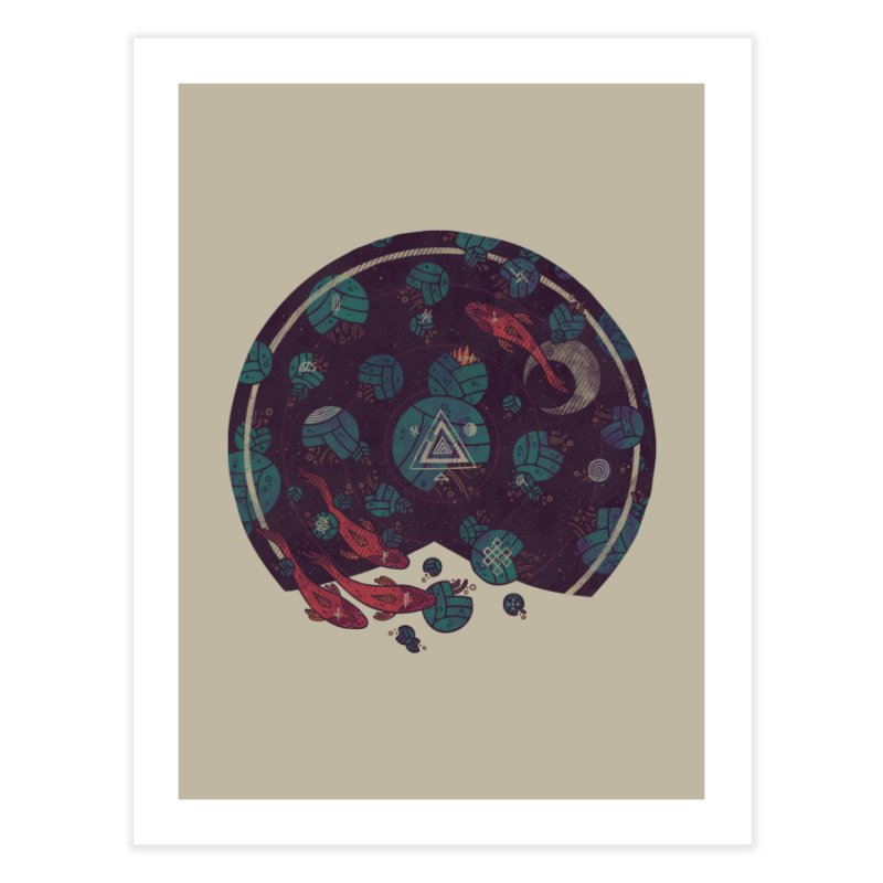 Amongst the Lilypads Home Fine Art Print by againstbound's Artist Shop