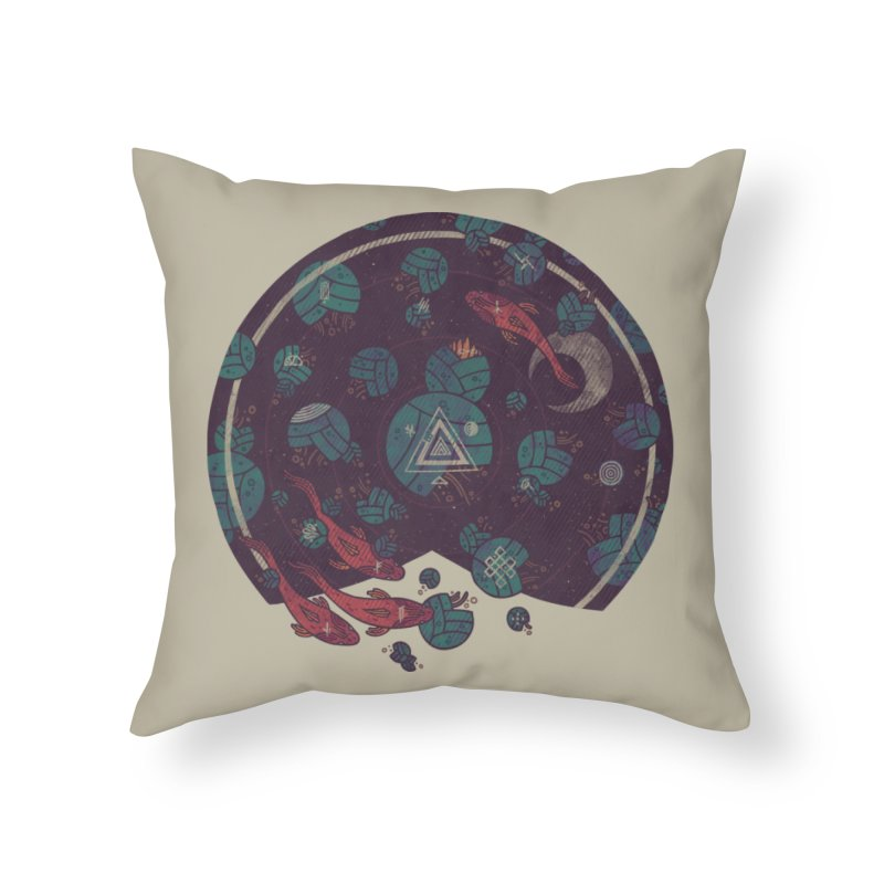 Amongst the Lilypads Home Throw Pillow by againstbound's Artist Shop