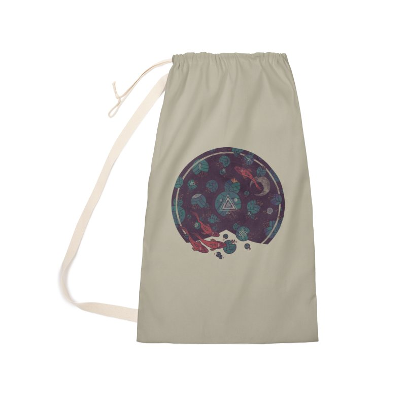 Amongst the Lilypads Accessories Laundry Bag Bag by againstbound's Artist Shop