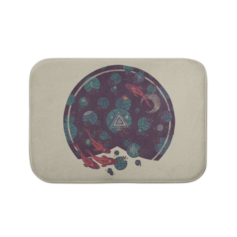 Amongst the Lilypads Home Bath Mat by againstbound's Artist Shop