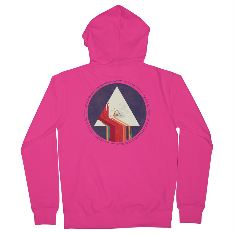 Portal Study Men's French Terry Zip-Up Hoody by againstbound's Artist Shop