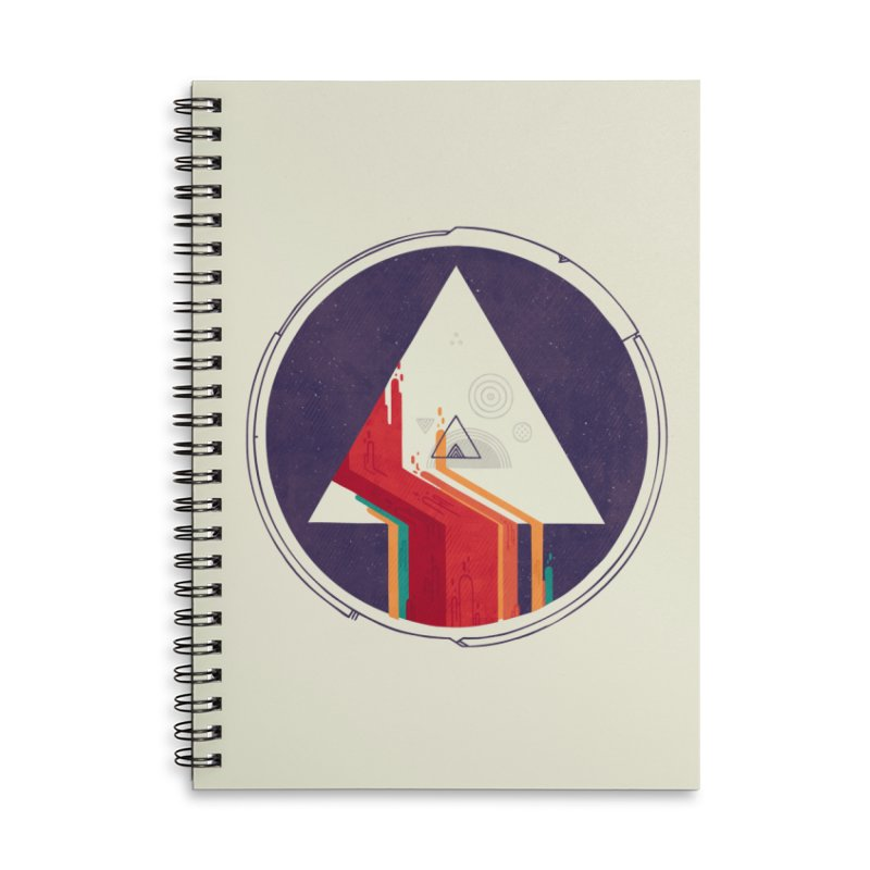 Portal Study Accessories Lined Spiral Notebook by againstbound's Artist Shop