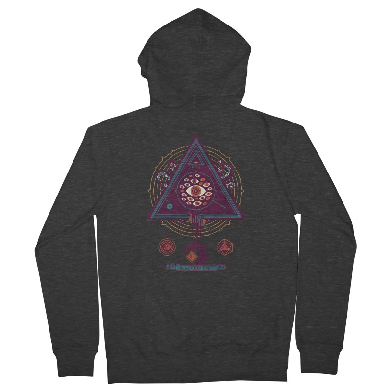 All Seeing Men's French Terry Zip-Up Hoody by againstbound's Artist Shop