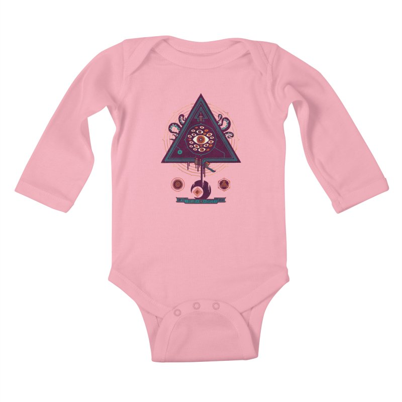 All Seeing Kids Baby Longsleeve Bodysuit by againstbound's Artist Shop