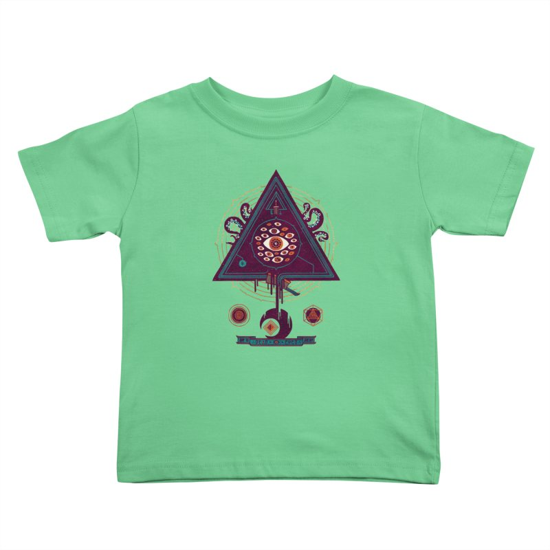 All Seeing Kids Toddler T-Shirt by againstbound's Artist Shop