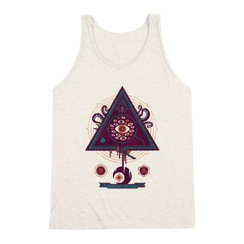 All Seeing Men's Triblend Tank by againstbound's Artist Shop