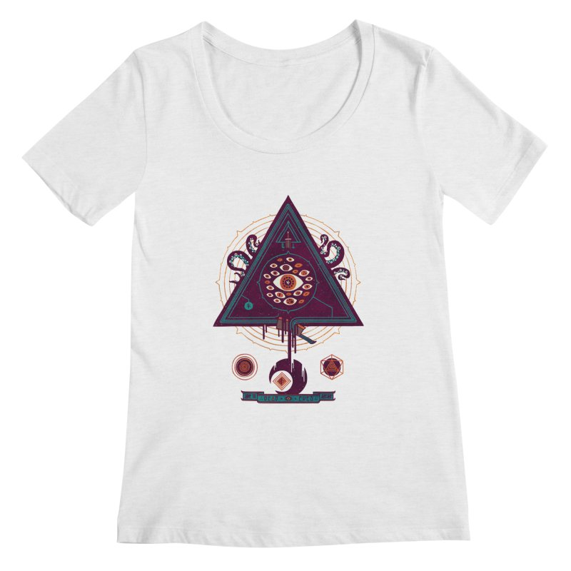All Seeing Women's Scoopneck by againstbound's Artist Shop