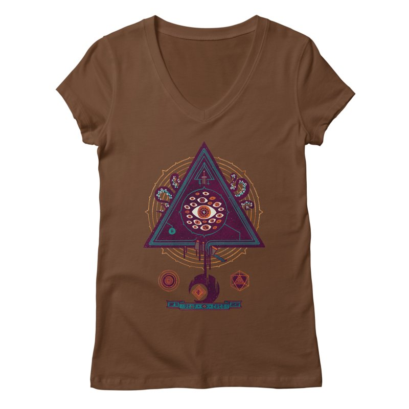 All Seeing Women's Regular V-Neck by againstbound's Artist Shop