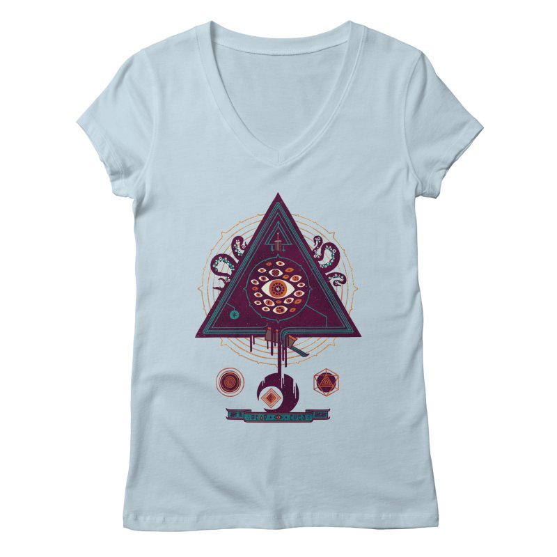 All Seeing Women's V-Neck by againstbound's Artist Shop