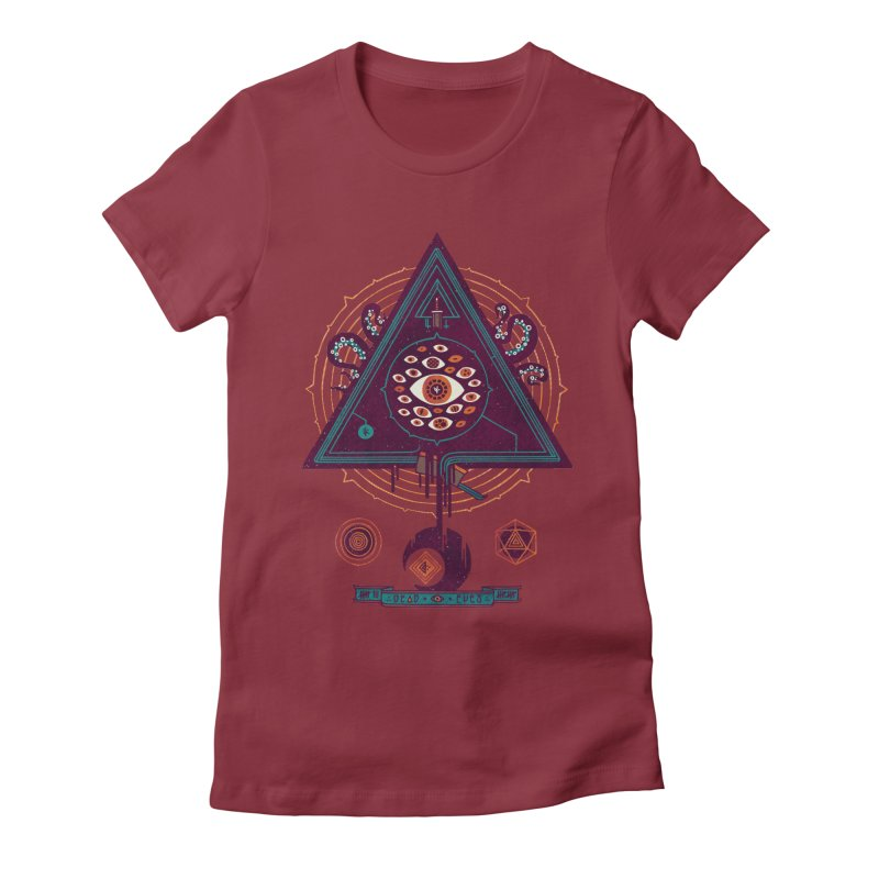 All Seeing Women's Fitted T-Shirt by againstbound's Artist Shop