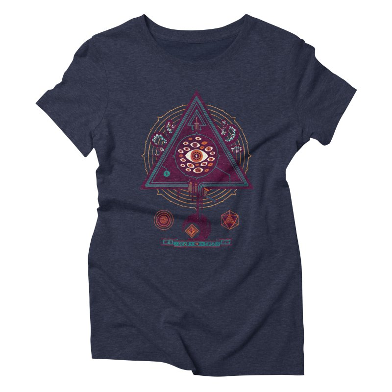 All Seeing Women's Triblend T-shirt by againstbound's Artist Shop