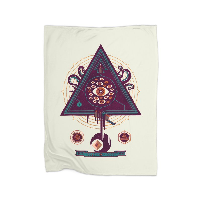 All Seeing Home Fleece Blanket by againstbound's Artist Shop