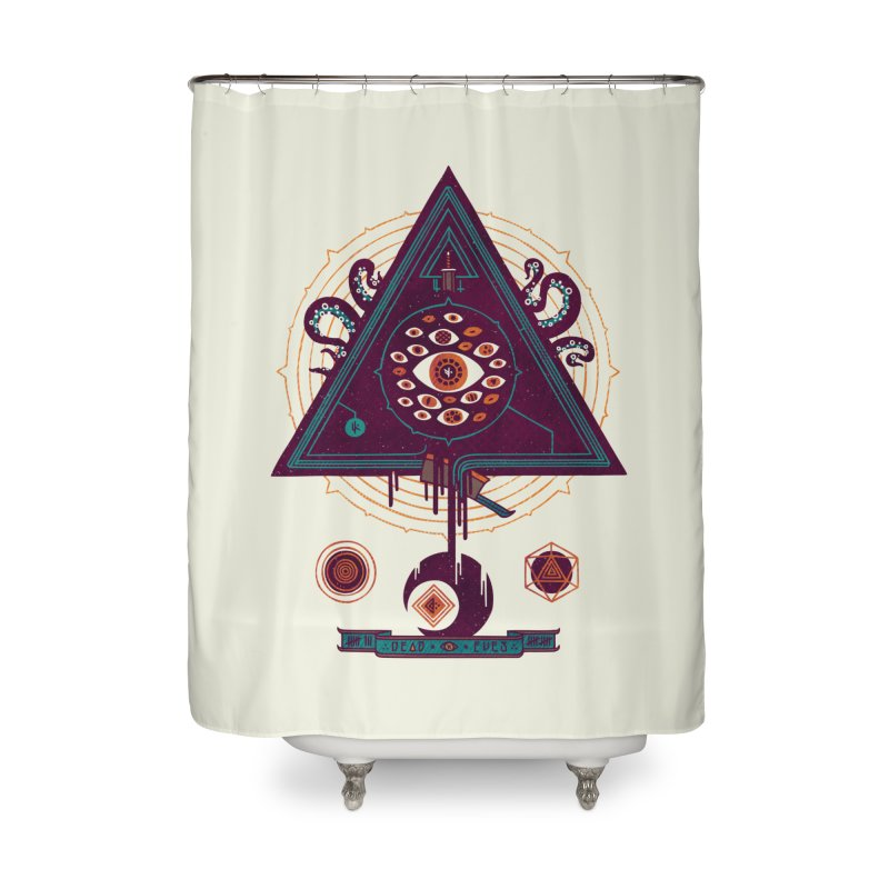 All Seeing Home Shower Curtain by againstbound's Artist Shop