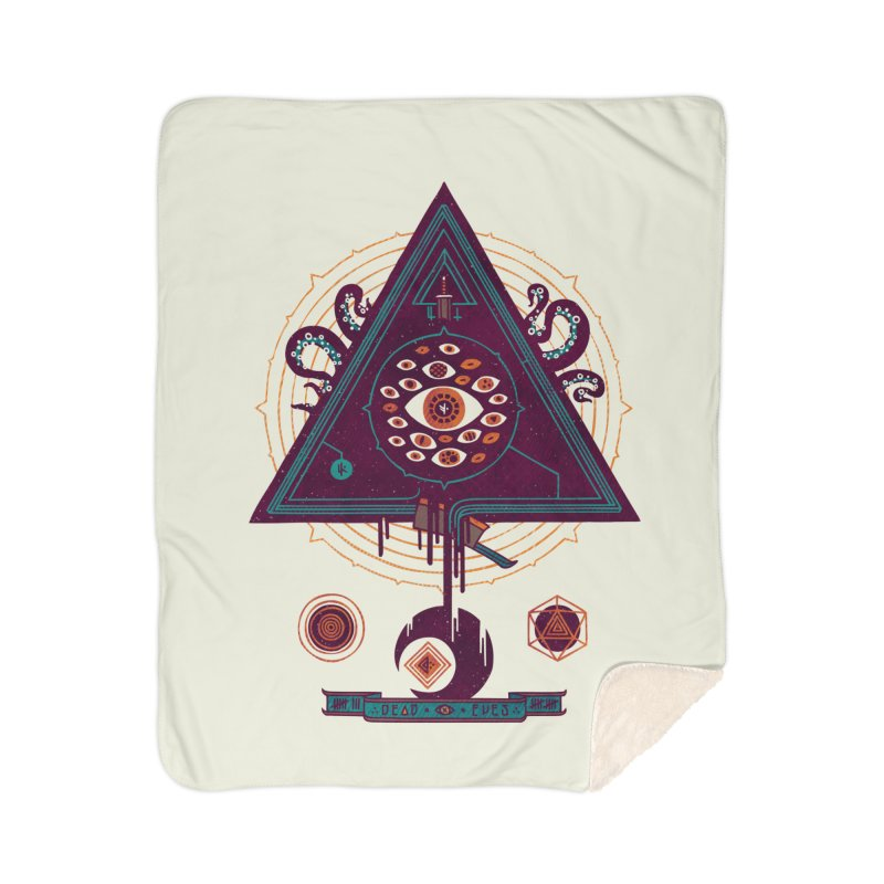 All Seeing Home Sherpa Blanket Blanket by againstbound's Artist Shop