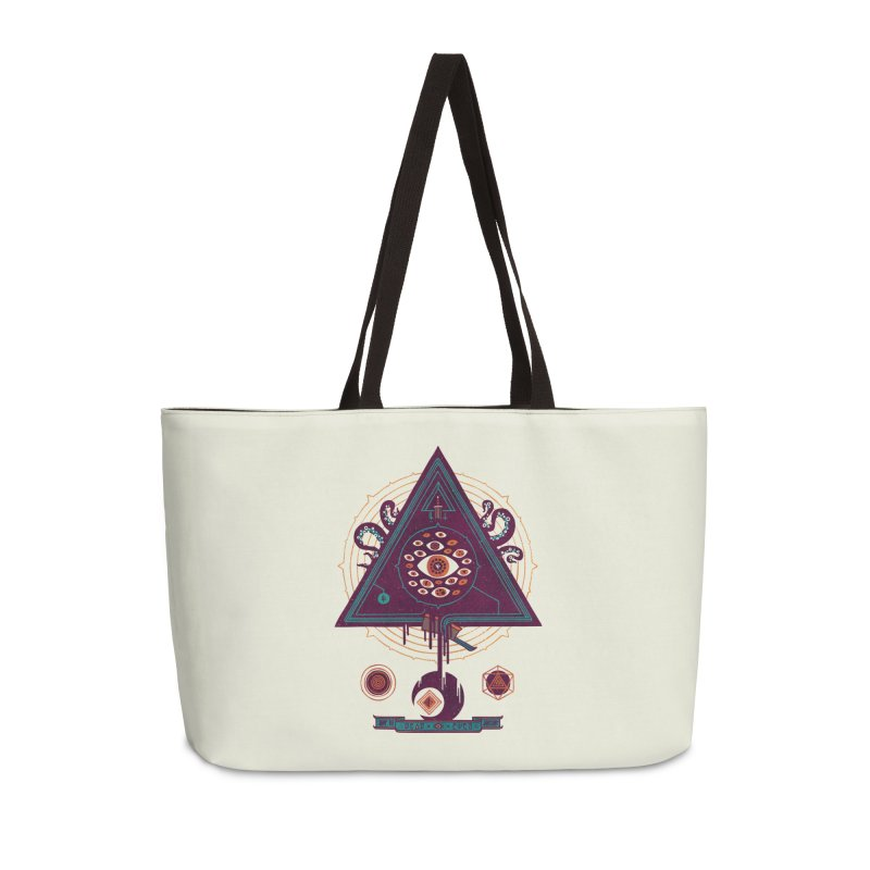 All Seeing Accessories Weekender Bag Bag by againstbound's Artist Shop