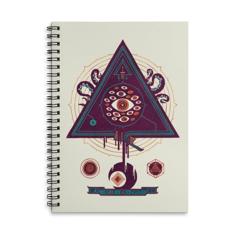 All Seeing Accessories Lined Spiral Notebook by againstbound's Artist Shop